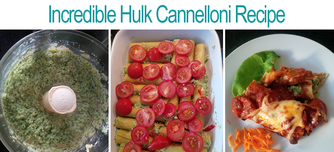 Incredible Hulk Cannelloni Recipe